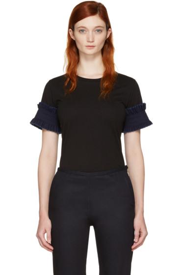 Ovelia Transtoto - Black Frill Sleeve T-Shirt