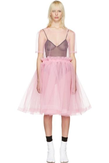 Molly Goddard - ピンク チュール ヤング ドレス
