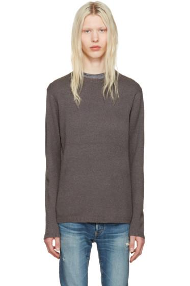 nonnative - Grey Clerk Sweater