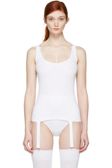 Marieyat - White Nina Suspenders Tank Top