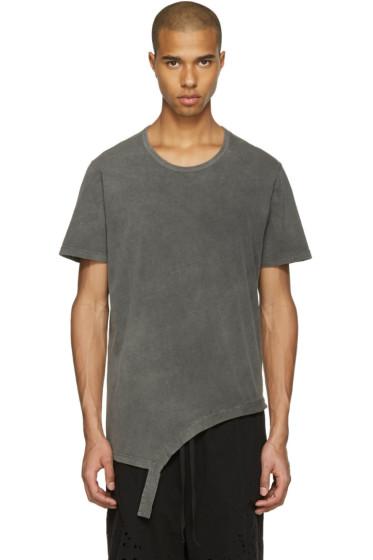 The Viridi-anne - Grey Asymmetric T-Shirt