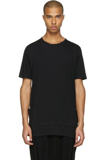 The Viridi-anne - ブラック レイヤード ポケット T シャツ