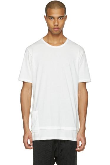 The Viridi-anne - ホワイト レイヤード ポケット T シャツ
