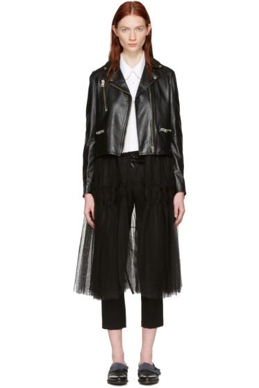 Chika Kisada - Black Leather & Tulle Jacket