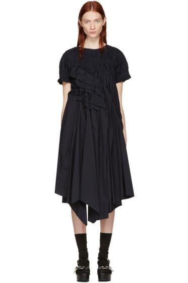 Chika Kisada - ネイビー ルーシュ ドレス