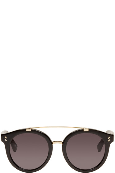 Stella McCartney - Black Double Bridge Sunglasses