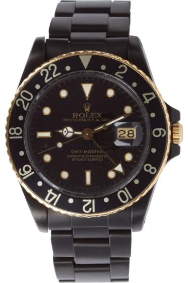 Black Limited Edition - マットブラック & ゴールド 限定 Rolex GMT マスター I