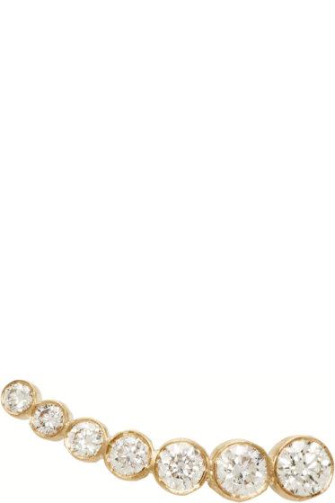 Sophie Bille Brahe - Gold Petit Croissant de Lune Single Earring