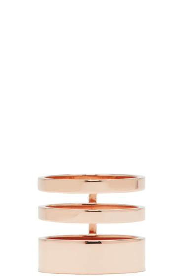 Repossi - Rose Gold Triple Band Berbere Ring