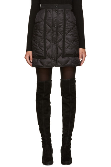 Moncler - Black Quilted Down Miniskirt