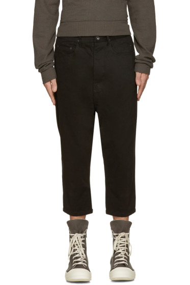 Rick Owens Drkshdw - Black Cropped Astaires Trousers