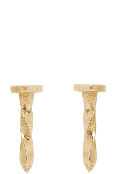 Lauren Klassen - Gold Tiny Nail Earrings