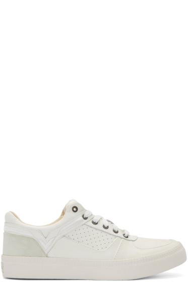 Diesel - White Leather S-Spaark Sneakers