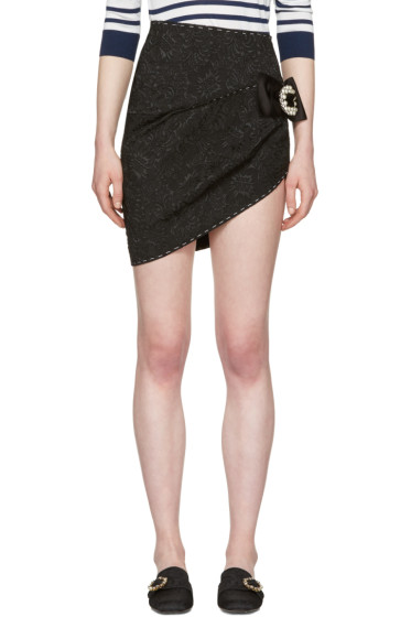 Dolce & Gabbana - Black Brocade Miniskirt
