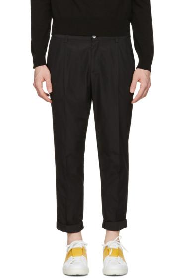 Dolce & Gabbana - Black Pleated Trousers