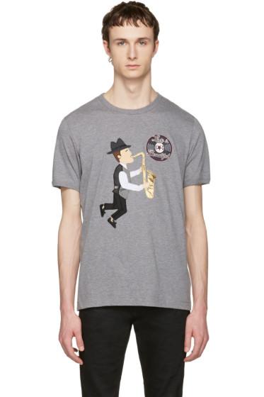 Dolce & Gabbana - Grey 'Love Is Beautiful' Sax Player T-Shirt