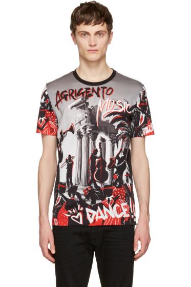 Dolce & Gabbana - Black & Grey 'Agrigento' T-Shirt