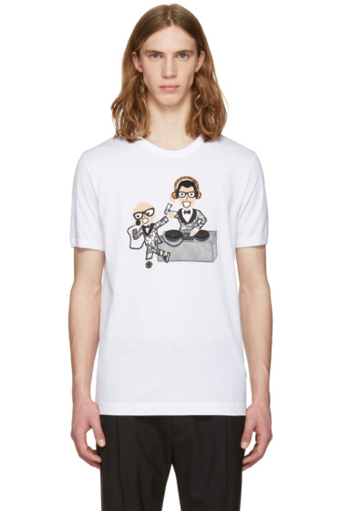 Dolce & Gabbana - White Designers DJ T-Shirt