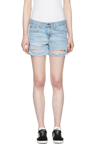 Rag & Bone - Blue Denim Boyfriend Shorts