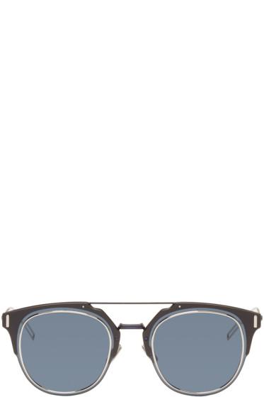 Dior Homme - ネイビー コンポジット 1.0 サングラス