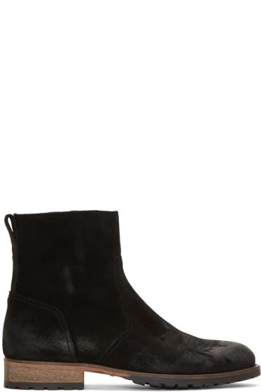 Belstaff - Black Suede Attwell Boots
