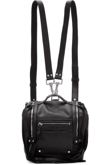 McQ Alexander Mcqueen - Black Mini Convertible Box Backpack
