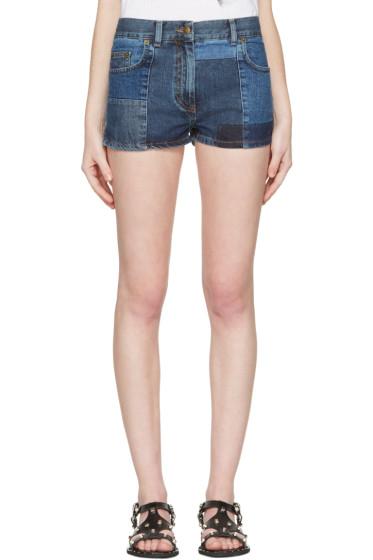 McQ Alexander Mcqueen - Blue Denim 70s Hotpant Shorts
