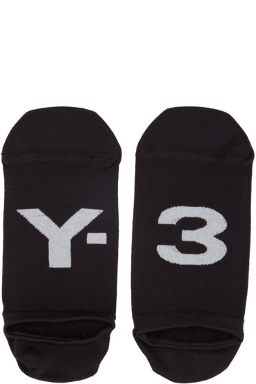 Y-3 -  Black Invisible Logo Socks