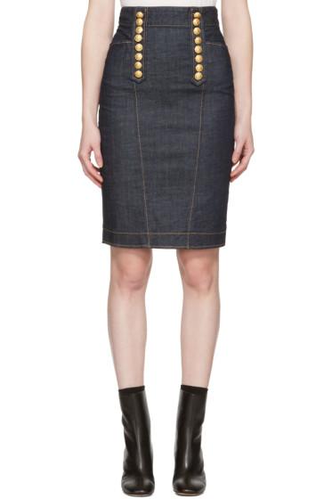 Dsquared2 - Blue Denim Livery Pencil Skirt