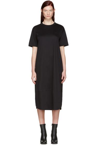 Helmut Lang - ブラック T シャツ ドレス