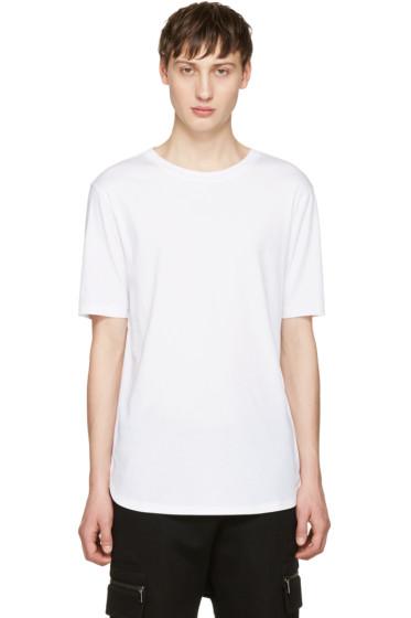 Helmut Lang - White Brushed Jersey T-Shirt