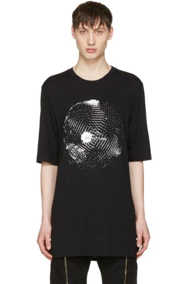 Helmut Lang - ブラック ディスコ ボール ロゴ T シャツ