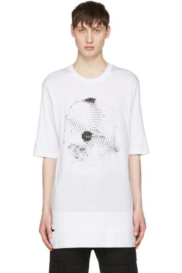 Helmut Lang - White Disco Ball Logo T-Shirt