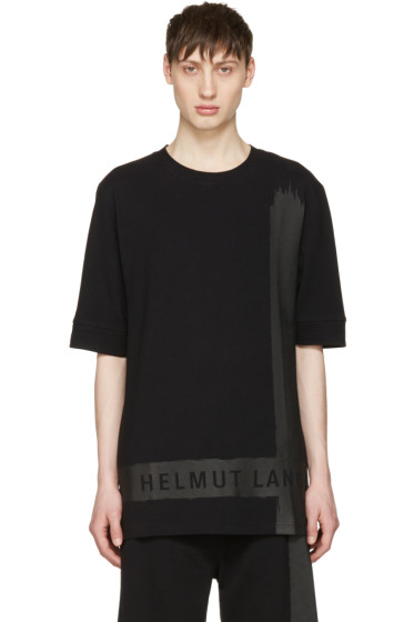 Helmut Lang - ブラック ロゴ T シャツ