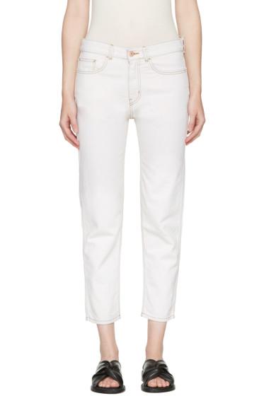 YMC - Ecru Slim Jeans