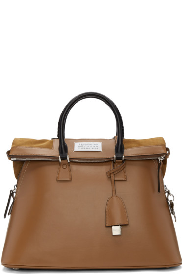 Maison Margiela - Brown Large Top Handle Bag