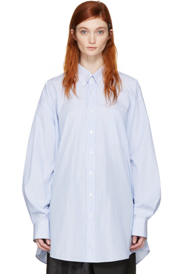 Maison Margiela - Blue & White Oversized Shirt