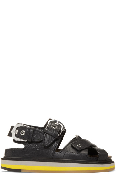 Maison Margiela - Black Brushed Effect Sandals