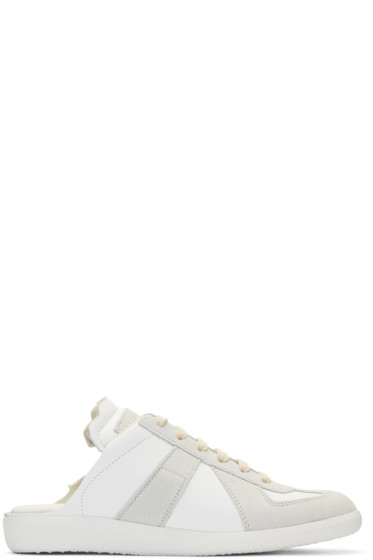 Maison Margiela - White Deconstructed Slide Sneakers