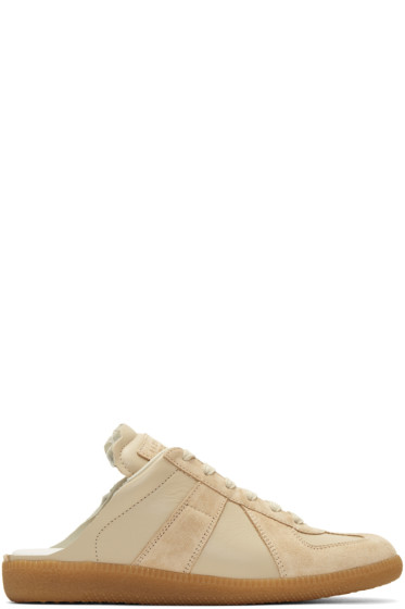 Maison Margiela - Beige Deconstructed Slide Sneakers