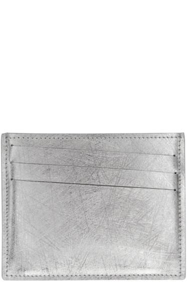 Maison Margiela - Silver Scratched Card Holder