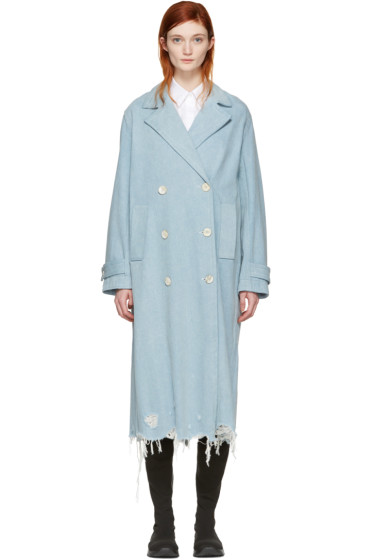 Alexander Wang - Indigo Denim Trench Coat