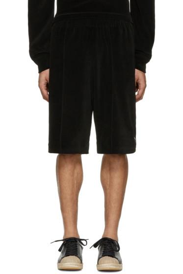 Alexander Wang - Black Velour Basketball Shorts