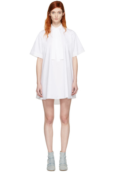 MM6 Maison Margiela - White Tie Collar Dress