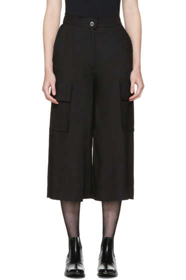 MM6 Maison Margiela - Black Cropped Cargo Trousers