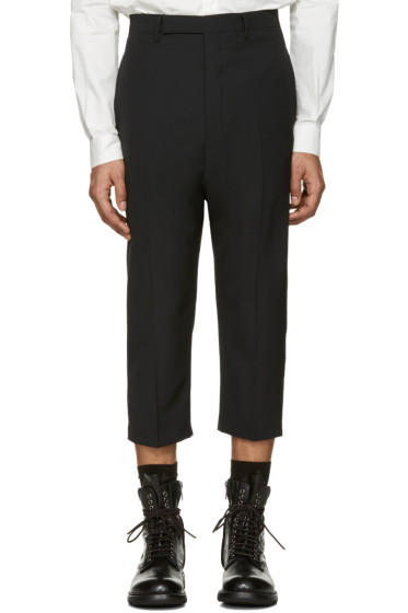 Rick Owens - Black Cropped Astairs Trousers