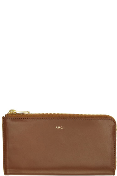 A.P.C. - Brown Long Continental Wallet
