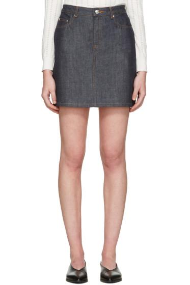 A.P.C. - Indigo Denim Standard Miniskirt