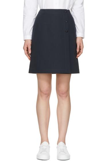 A.P.C. - Navy Lana Miniskirt