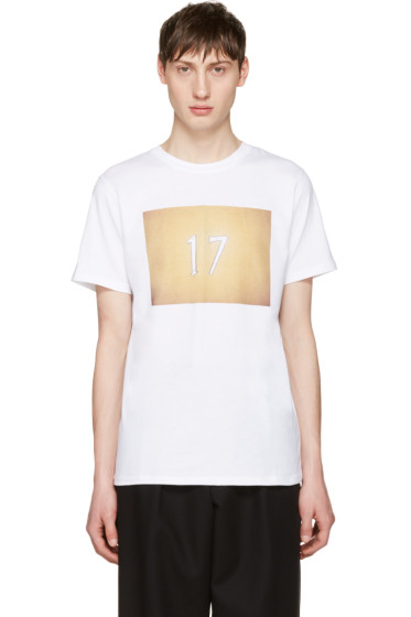 A.P.C. - White 'Seventeen' T-Shirt
